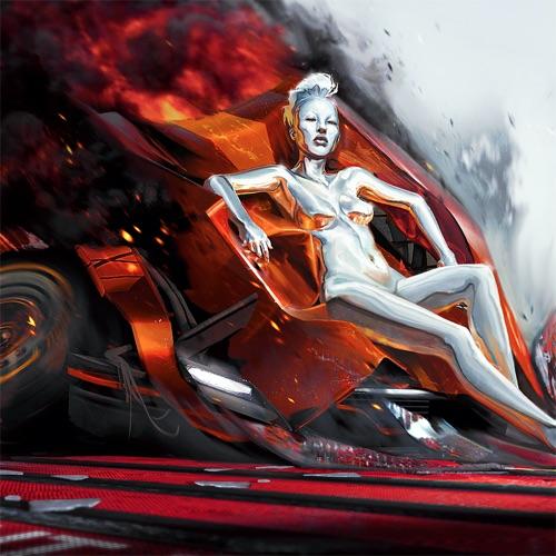 Grimes Cyberpunk Album Cover